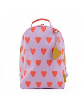 MOCHILA MINI HEARTS ORANGE STICKY LEMON
